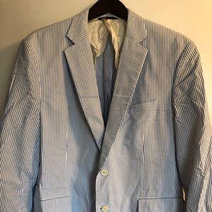 Brook Brothers Madison stripe Seerscuker suit coat